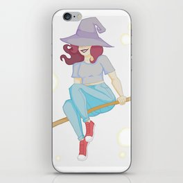 Twitchy Witchy Girl iPhone Skin