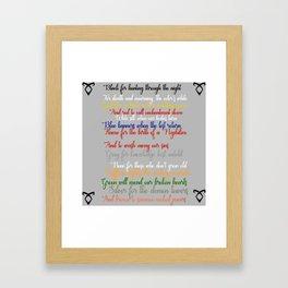 Shadowhunter rhymes Framed Art Print