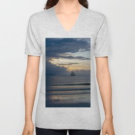 Sailing out of the Storm Unisex V-Neck