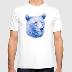 Brown bear is blue MEDIUM White Mens Fitted Tee