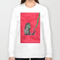 cigarettes Long Sleeve T-shirts featuring Watermelon Cigarettes by Alicia Ortiz