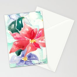 Poinsettia Cheer Stationery Cards