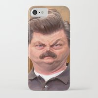 swanson iPhone & iPod Cases featuring Swanson by Jason Seiler