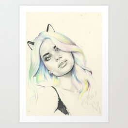 Concept Kitty Art Print