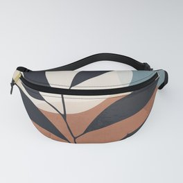 Abstract Art Tropical Leaf Fanny Pack