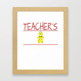 Teacher's Chick Gift Wife Girlfriend product Framed Art Print