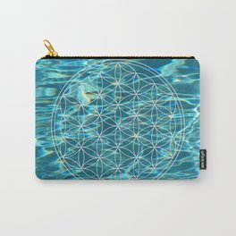 Flower of life in the water Carry-All Pouch