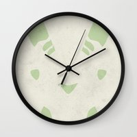 digimon Wall Clocks featuring Terriermon by JHTY