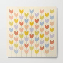 Tulip Pattern - Rainbow Metal Print