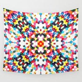 Rainbow Skittles Kaleidoscope Print Wall Tapestry