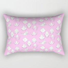 Pink paper crane origami pattern Rectangular Pillow