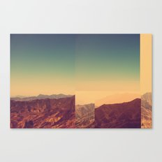 Mountains Clashed Canvas Print