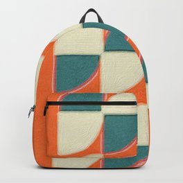 Red Quarters Blue and White Backpack