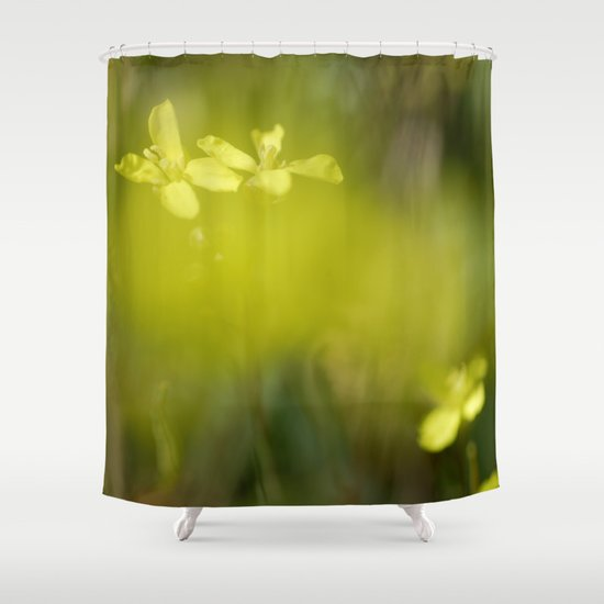 """Yellow Dream"" Shower Curtain By Guidomontanes"