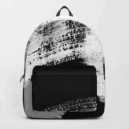 modern painterly brush strokes texture in bw Backpack