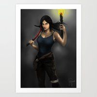 tomb raider Art Prints featuring Tomb Raider by Michael Itliong