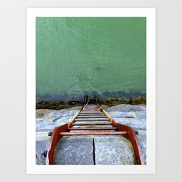 ladder to the sea Art Print