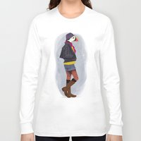 puffin Long Sleeve T-shirts featuring Puffin by Dyna Moe