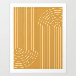 Minimal Line Curvature VIII Art Print