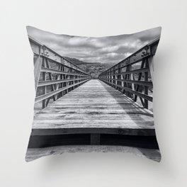 Symmetrical Costal Bridge Throw Pillow