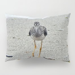 Greater Yellowlegs (Sandpiper) Looking at Camera Pillow Sham