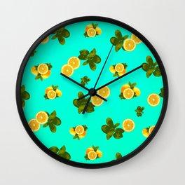 Lemon Parade Wall Clock
