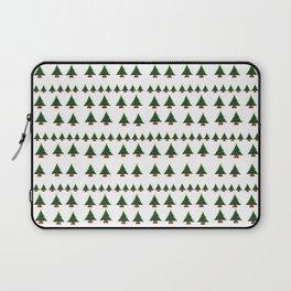 Ugly Sweater Christmas Trees - Pixel Art Laptop Sleeve
