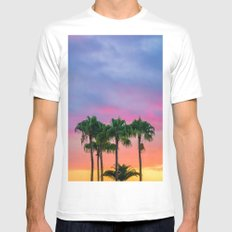 Sunset tropical vibes Mens Fitted Tee MEDIUM White