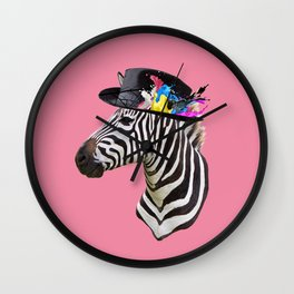 Crazy Zebra Wall Clock