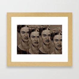 FRIDA 4u - sepia Framed Art Print