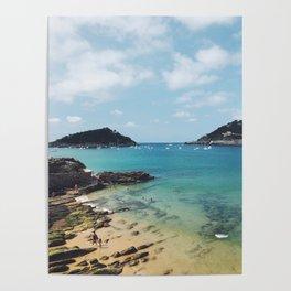 Summer in Donosita San Sebastian Spain Beach Poster