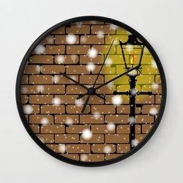 Lamplight Christmas Wall Clock