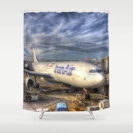 Iran Air Airbus A330 Shower Curtain