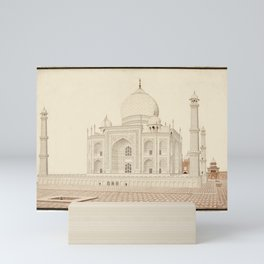 A view of the Taj Mahal from the west looking east, India, Company School, circa 1813 Mini Art Print