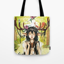 Forest deer Tote Bag