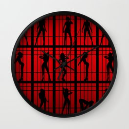 Cell Block Tango Wall Clock