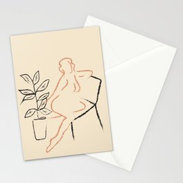 Nude Line Stationery Cards