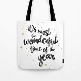 Christmas Happy Quote Tote Bag