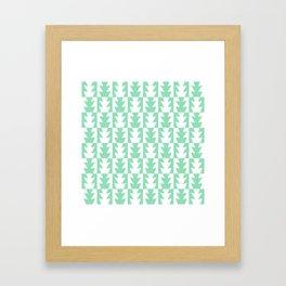 Art Deco Jagged Edge Pattern Mint Green Framed Art Print