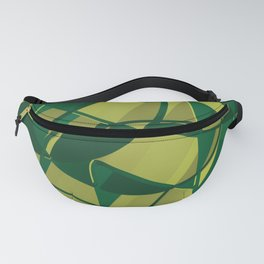 3D Abstract Futuristic Background X. 16 Fanny Pack
