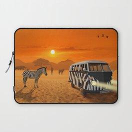 Africa Safari and stripes meeting Laptop Sleeve