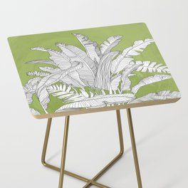 Banana Leaves Illustration - Green Side Table