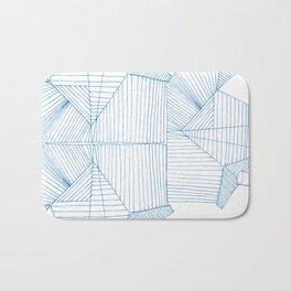 Architectural Blue Print Bath Mat