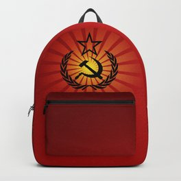 Sunny Hammer and Sickle Backpack