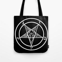 Ave Satanas (White) Tote Bag