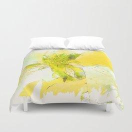 Pale Yellow Poinsettia 1 Serene Duvet Cover