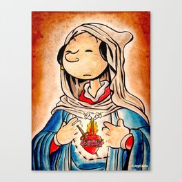 The Immaculate Heart of Olive Canvas Print