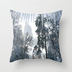 Icicle Dreams Throw Pillow