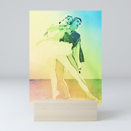 Rainbow Ballet : Swan Lake Mini Art Print