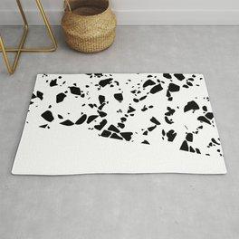 Terrazzo Texture Black and White #8 Rug